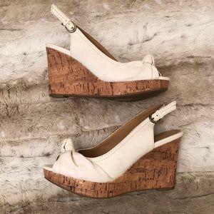 Apt. 9 Shoes - Apt. 9 White Wedge Slingback Sandal Size 7